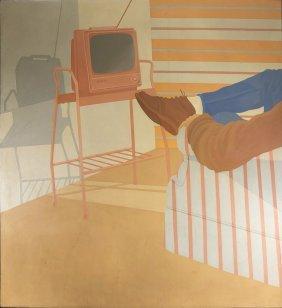 "Marilyn Minter, ""david's Tv"", Acrylic On Canvas"