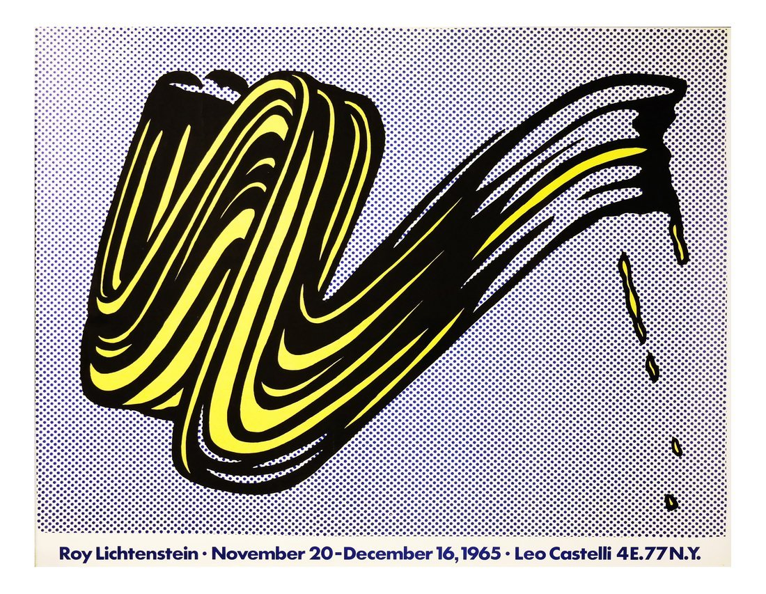 Roy Lichtenstein, 'Brushstroke', Exhibition Poster