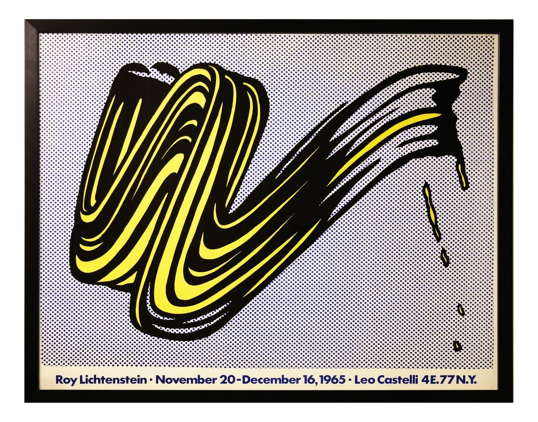 Roy Lichtenstein, 'Brushstroke', Exhibition Poster - 2