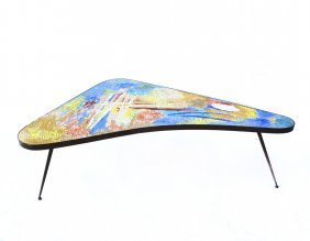 Modern Boomerang Form Coffee Table