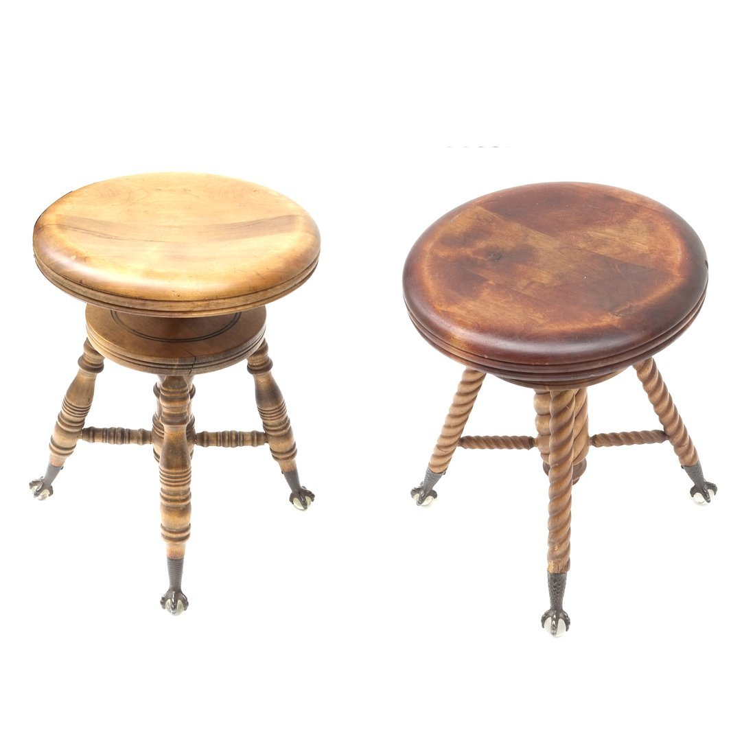 Two Victorian Piano Stools