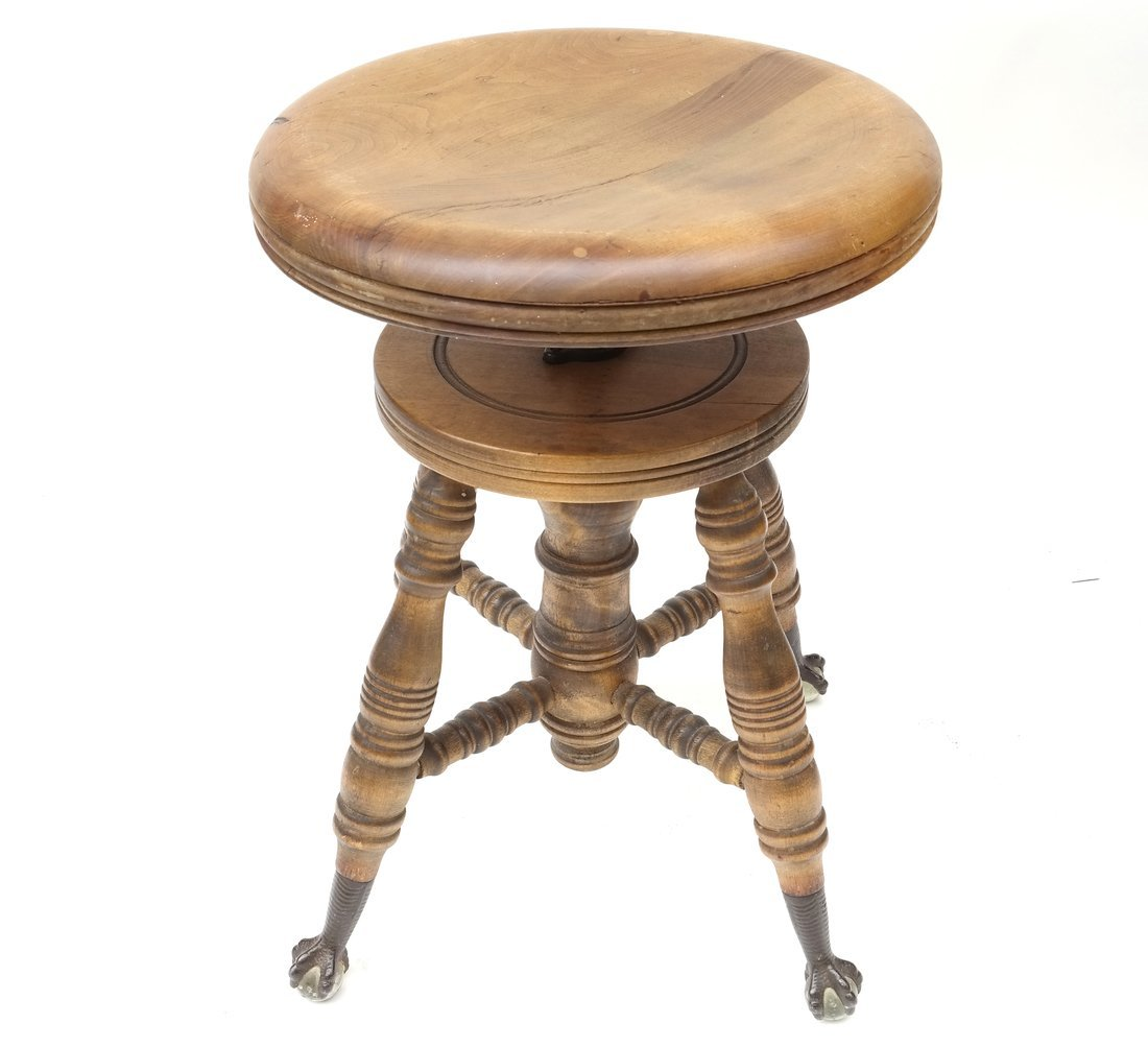 Two Victorian Piano Stools - 2