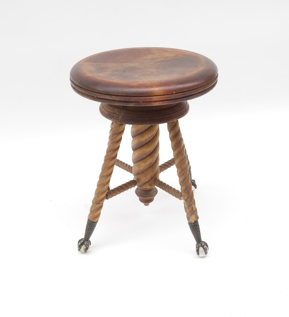 Two Victorian Piano Stools - 3