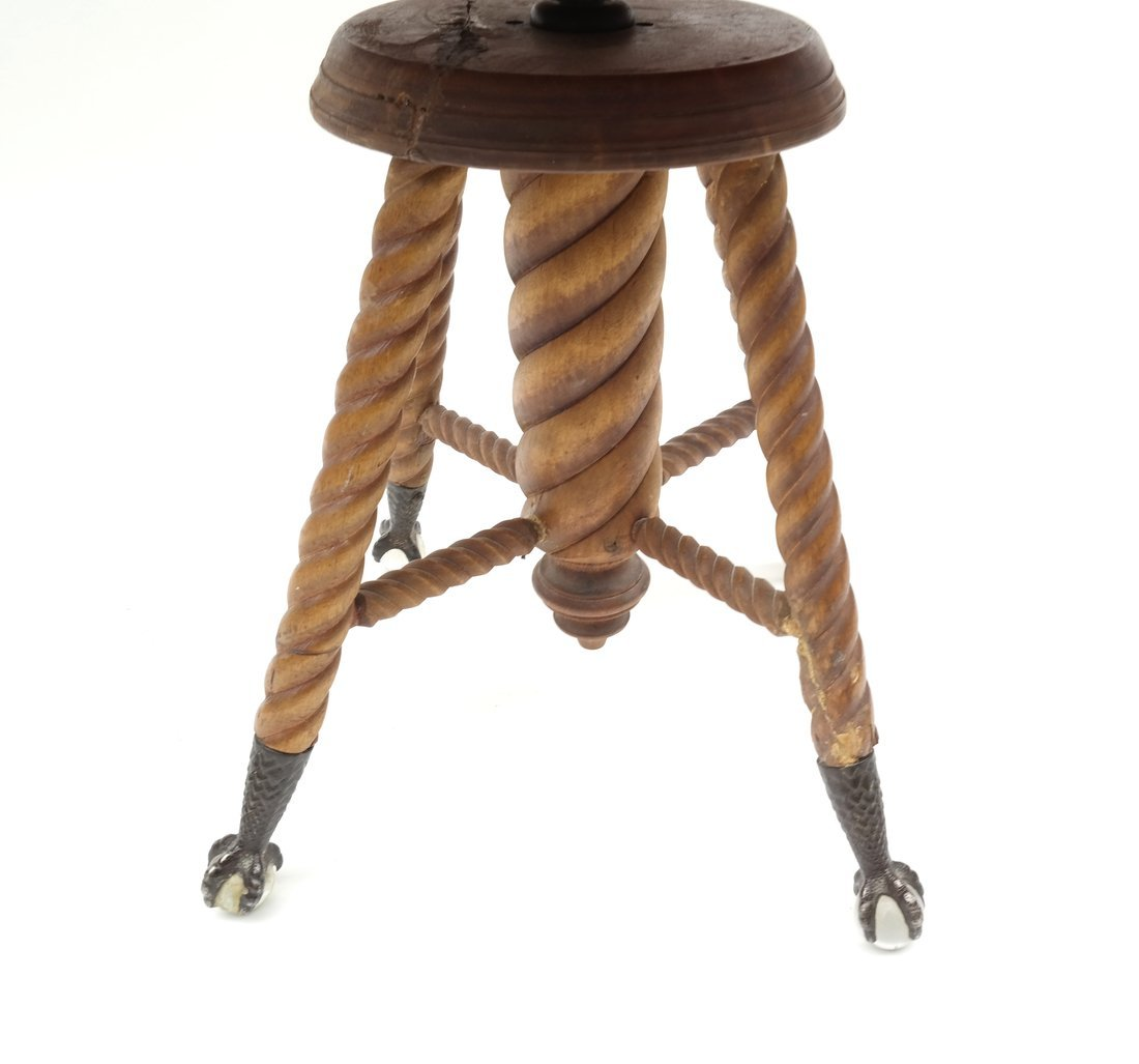 Two Victorian Piano Stools - 9