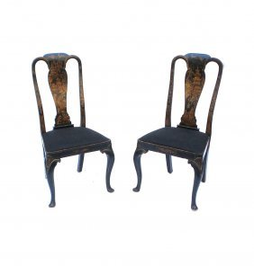 Pair Of Chinoiserie-style Side Chairs