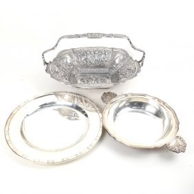 3 Various Silver Plated Serving Articles