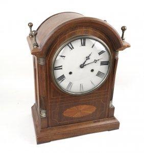 Mahogany Inlay Mantle Clock