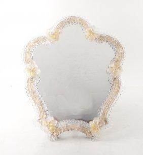 Venetian Murano Glass Table Mirror