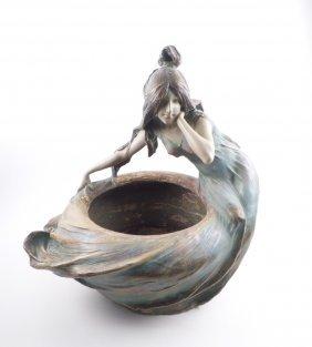 Ak Turn Pottery Figural Planter
