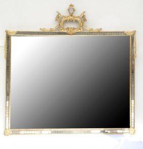 Mirrored Tile & Gilt Framed Mirror