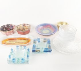 20 Art Glass Dishes