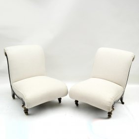 Pair Of Regency Slipper Chairs