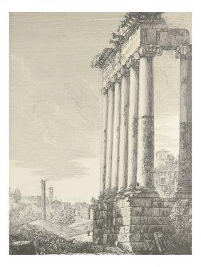 Italian Print Of Ruins