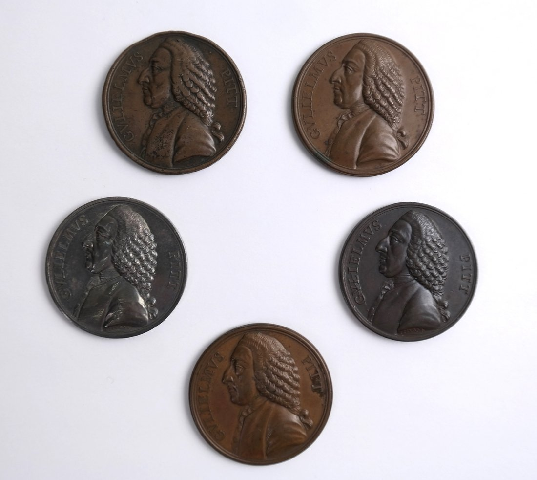 William Pitt Stamp Act Medals