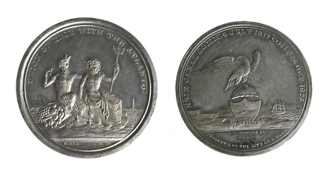 1826 Erie Canal Completion White Metal