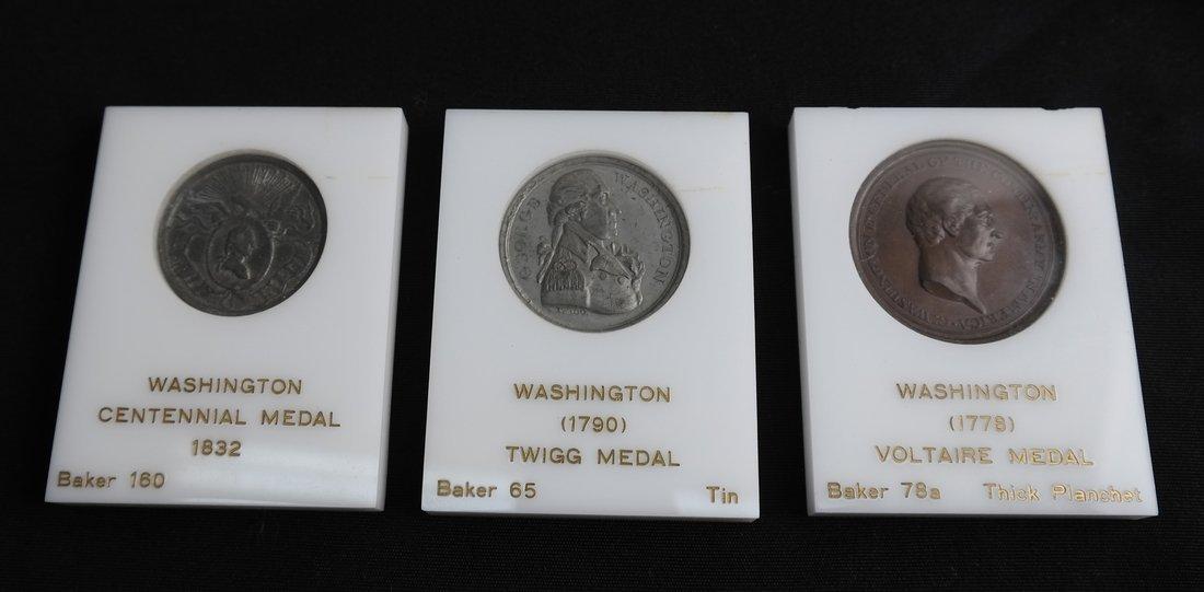 Trio of Washington Medals
