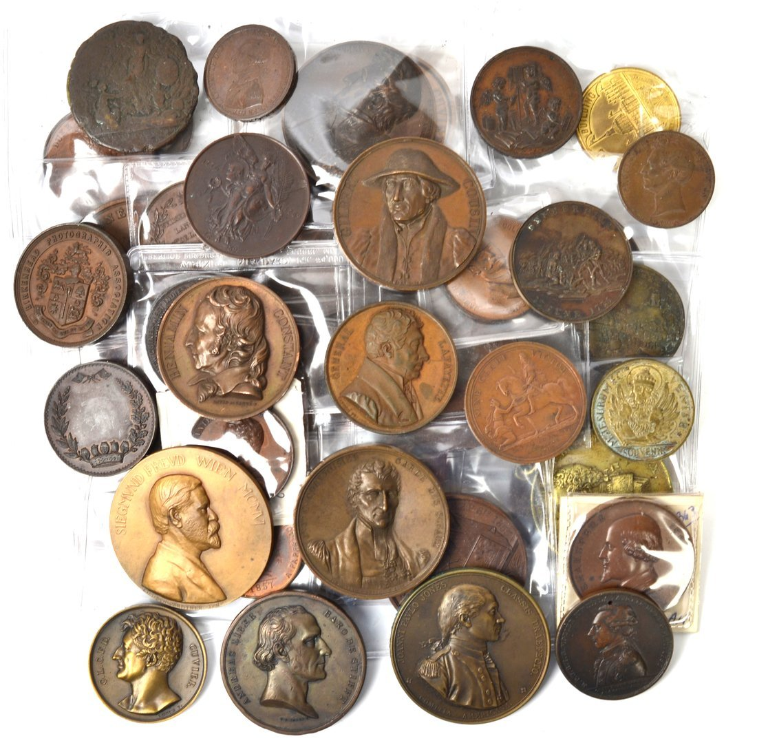 Bronze and Brass Medal Collection