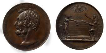 1865 US Lincoln Bronze Tribute Medal