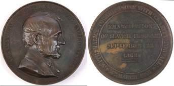 1865 US Swiss Lincoln Memorial Medal