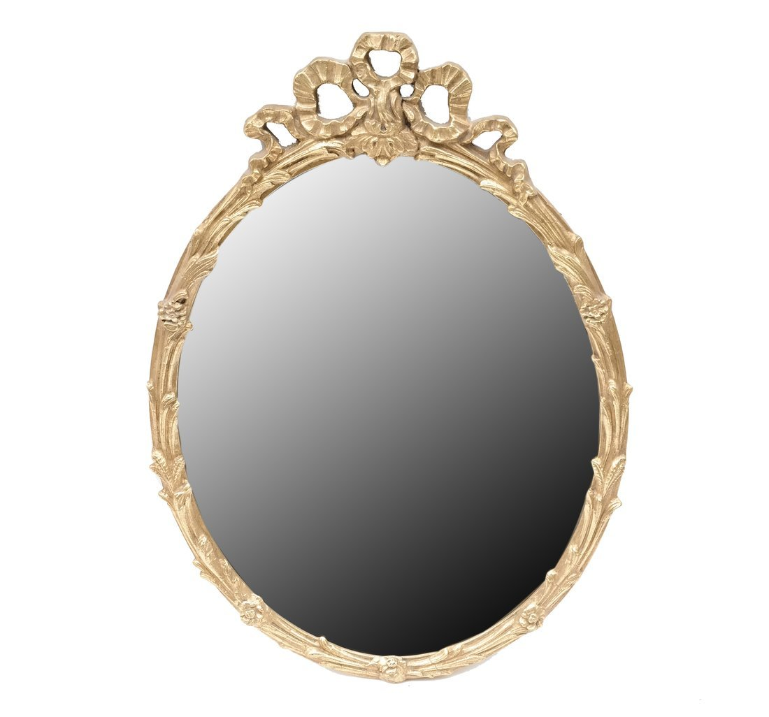 Composition Gilt Carved Oval Mirror