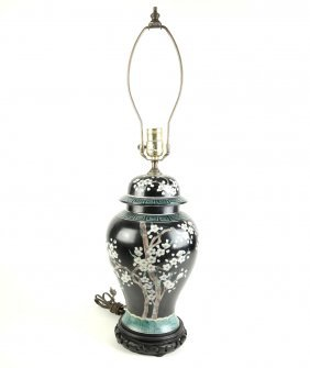 Japanese Floral Decorated Lamp