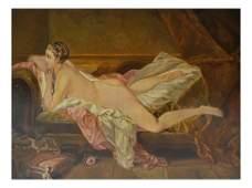 Nude Female, Oil on Board
