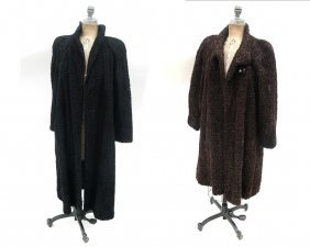 Two Ladies Lambs Wool Coats