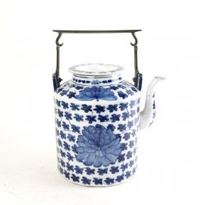 Large Chinese Export Ceramic Pitcher