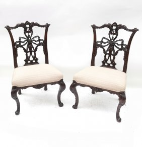 Pair Of George Iii-style Side Chairs