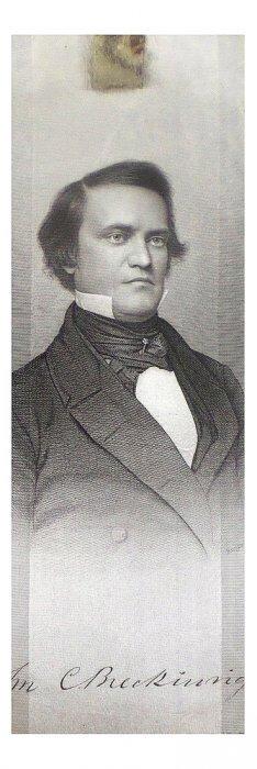John C. Breckinridge - Silk Campaign Ribbon