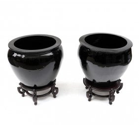 Two Large Jardiniere Planters