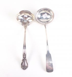 Two Silver Ladles