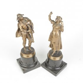 Pair Of Continental Bronze Figures