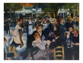 "After Renoir, ""ball At The Moulin..."""