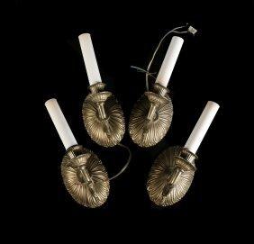 Four Gilt Bronze Sconces