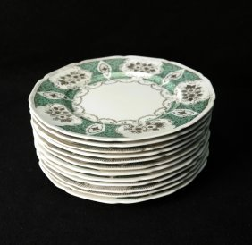 12 Meito China Dinner Plates
