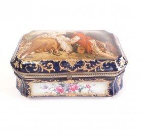 Sevres-style Porcelain Box