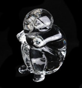 Murano Crystal Sculpture By Seguso