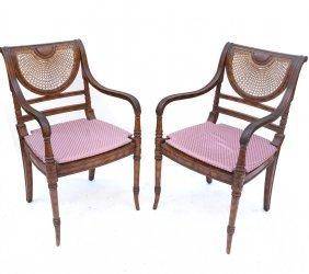 Pair Of Regency-style Armchairs