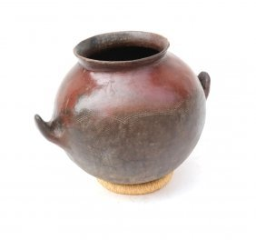 Double-handled Pottery Bowl