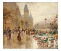 Georges Stein, O/P, Paris Street Scene