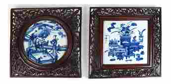 Two Chinese Export Porcelain Plaques