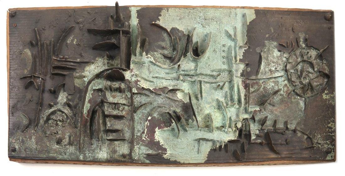 Gio Pomodoro Abstract Bronze Sculpture