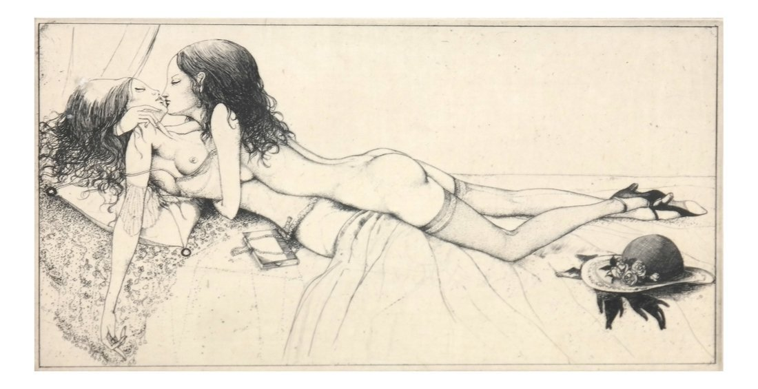 Yamamoto Erotic Framed Etching
