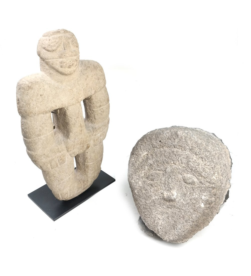 Two Ancient Style Stone Figures
