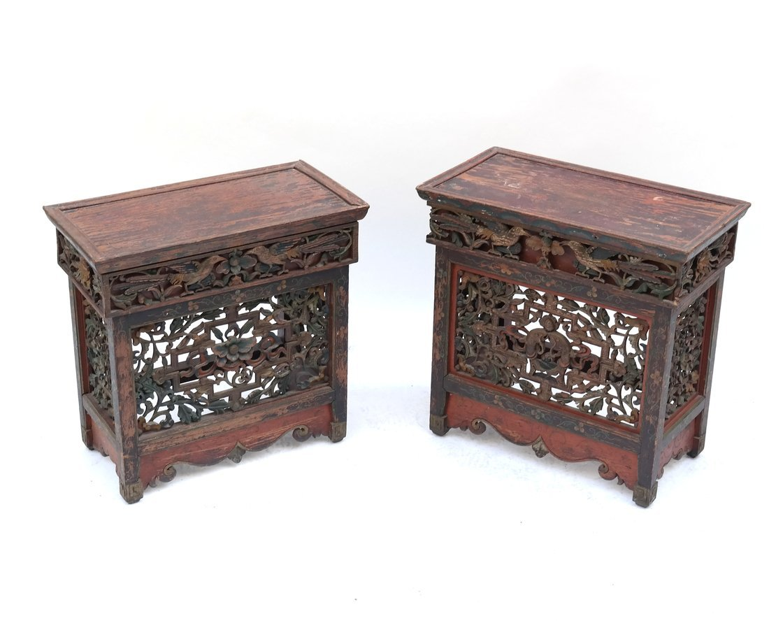 Pair of Chinese Provincial Stands