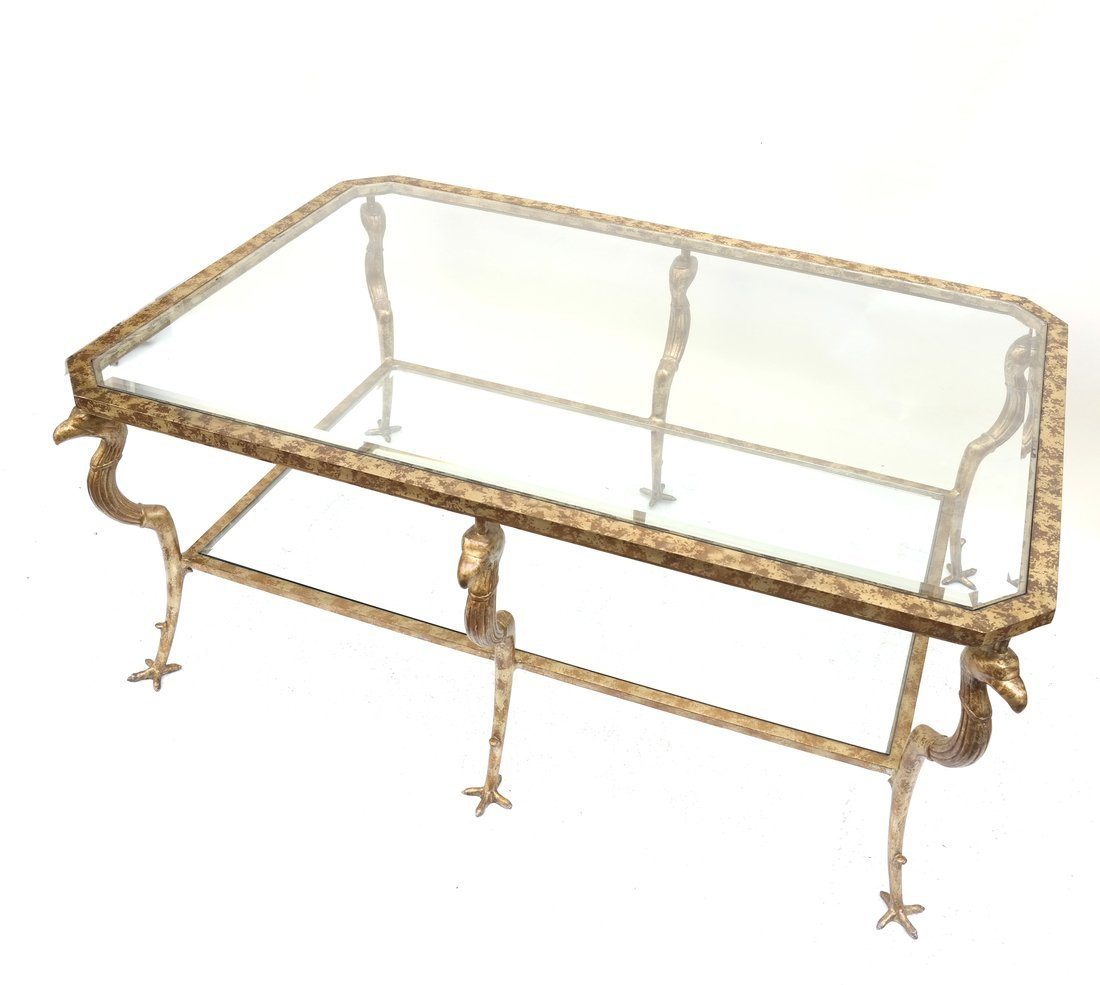 Neoclassical Style Gilt Cocktail Table