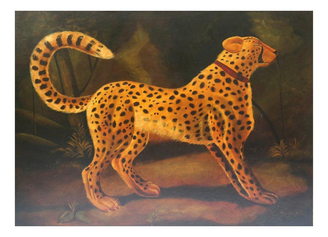 Reginald Baxter, Cheetah, Oil on Canvas