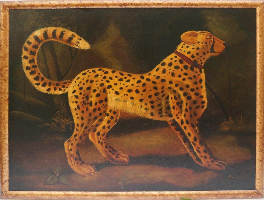 Reginald Baxter, Cheetah, Oil on Canvas - 2