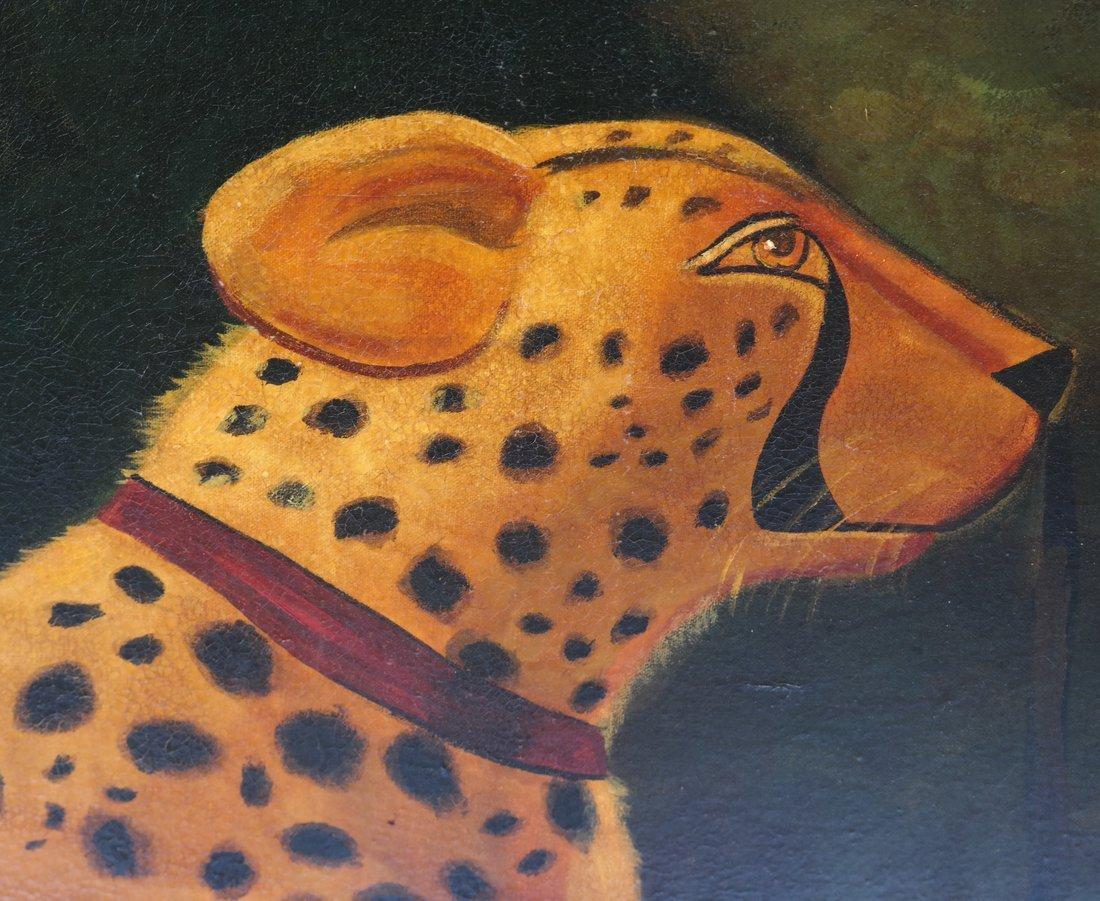 Reginald Baxter, Cheetah, Oil on Canvas - 3